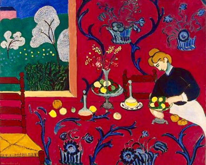 Matisse over the stairway, Gauguin under thecurtains